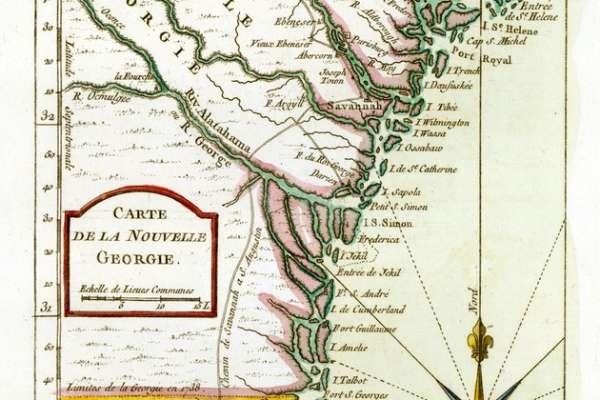 Vintage Map - Carte de La Nouvelle Georgie