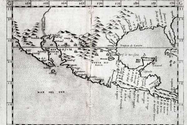 Vintage Map - Nveva Hispania tabvla nova
