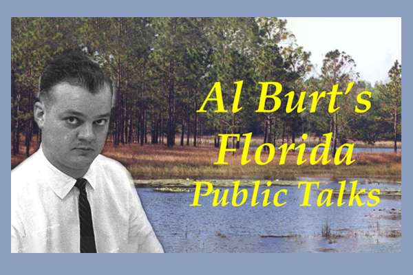 A photo of Al Burt in front of a Florida landscape