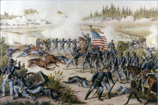 Battle at Olustee lithographic print