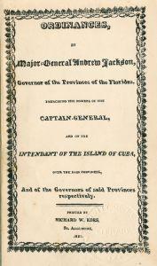 Ordinances of Major Gen Jackson
