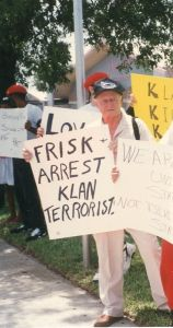 Stetson at Palm Beach Protest